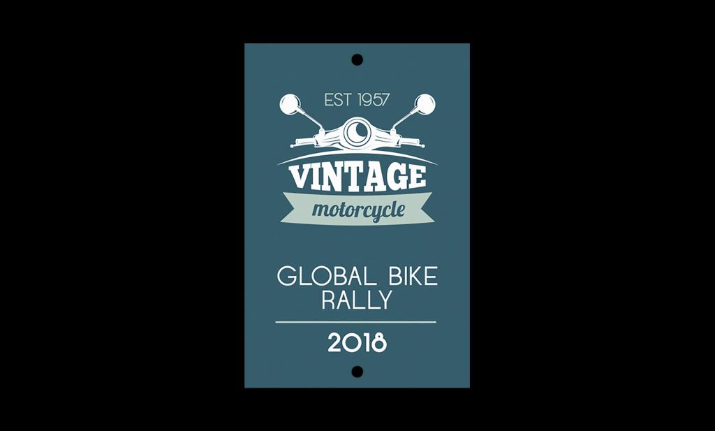 Motorbike Rally Plate
