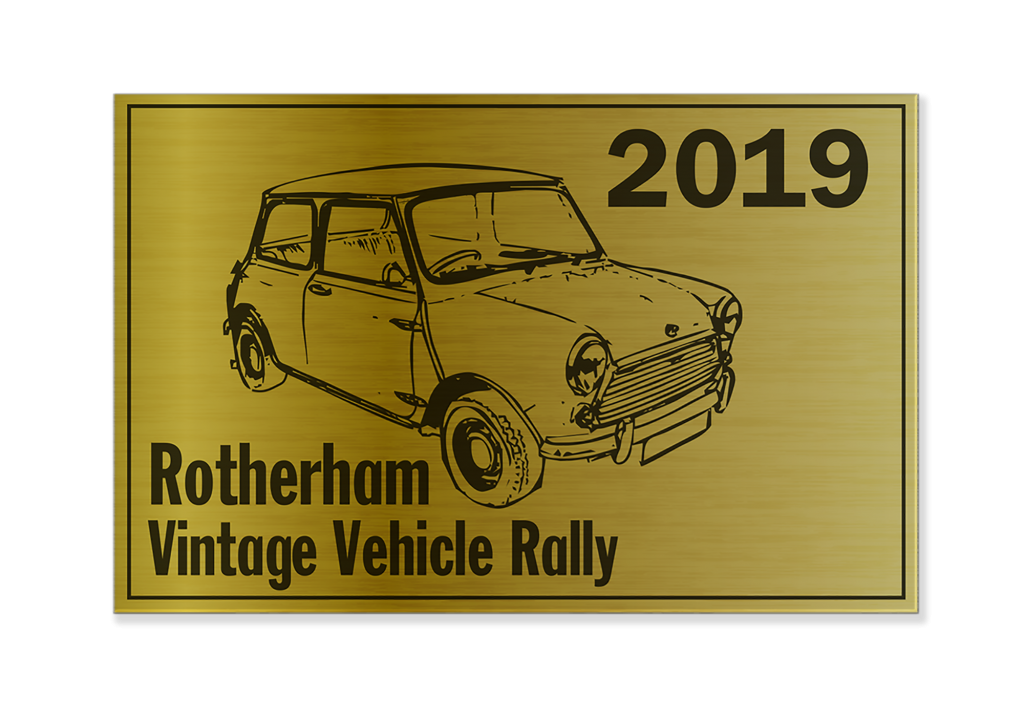 Single Colour Metal Event Plaques