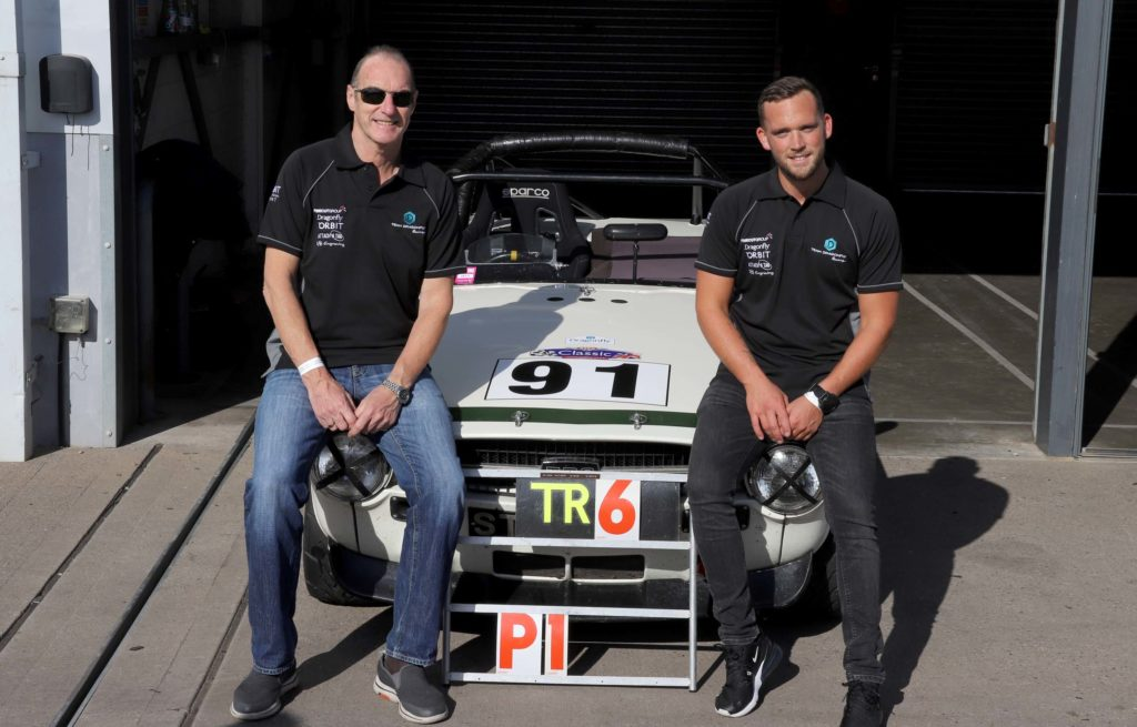 First Race for Dragonfly's Triumph TR6